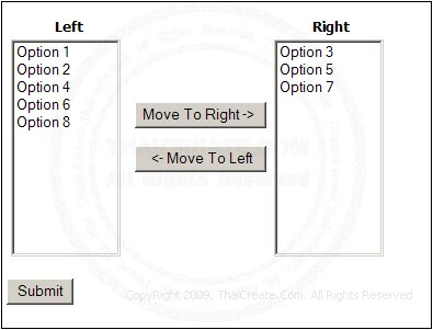 Move Option List/ListMenu