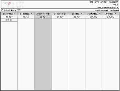 Asp Appointment Calendar