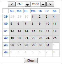 Javascript Calendar Date Picker
