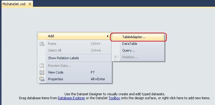 T01-04 Add New TableAdapter