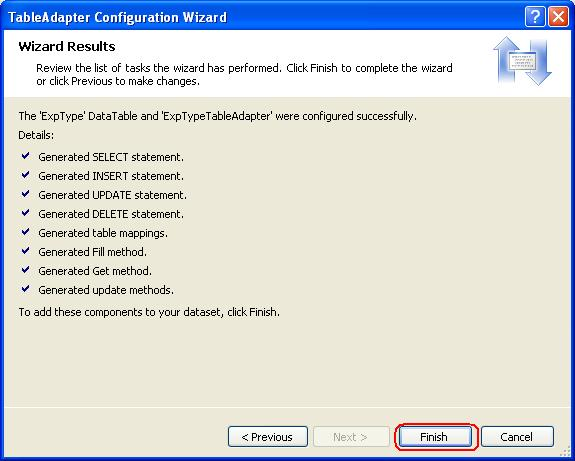 T01-08 Create TableAdapter Step7