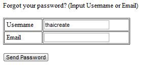 PHP Forgot Password