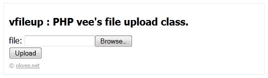 vfileup php upload class