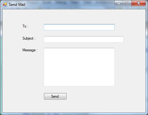 Windows Form Send Mail System.Net.Mail