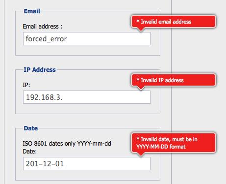 jQuery Validators Form