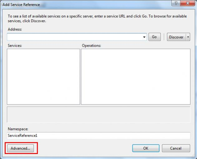 Windows Form Application Add Web Reference