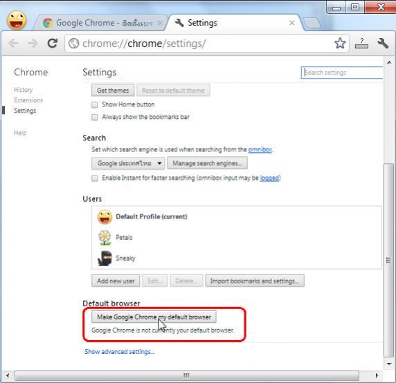 Google Chrome Default Web Browser