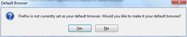 Mozilla Firefox Default Web Browser