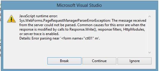 error export