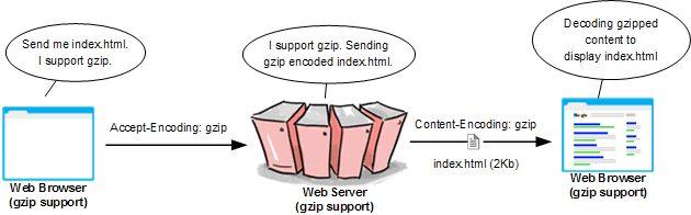 Content-Encoding : gzip