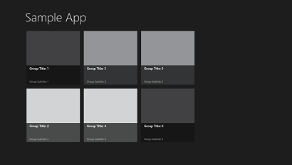 Windows Store Apps GridView
