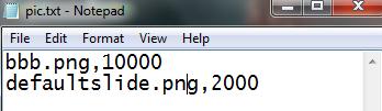 Textfile ที่เก็บ ชื่อไฟล์กับperiod