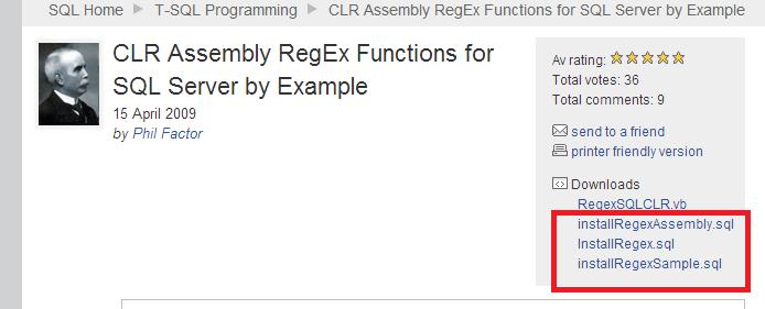 Regular Expression For SQL Server