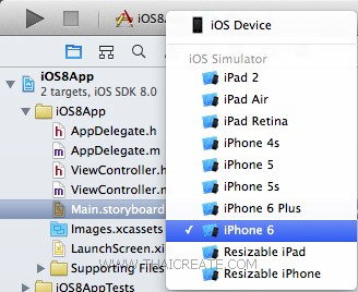 iOS 8 Xcode 6 iPhone 6 - 10