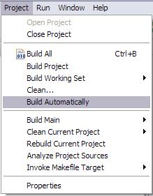 Build Automatically.