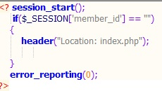 session_start();