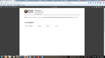 รายงาน Error