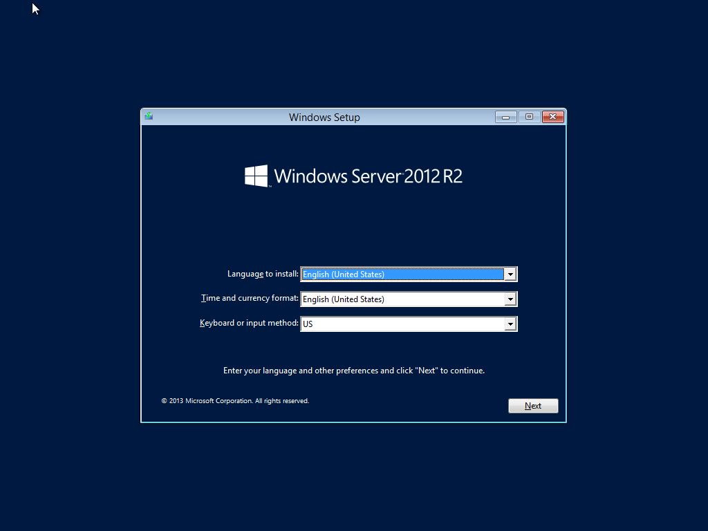 ติดตั้ง Server 2012-Part1