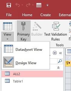 Access ตัว mode view SQL ไม่มีนะคับ ตั้งค่ายังให้ม