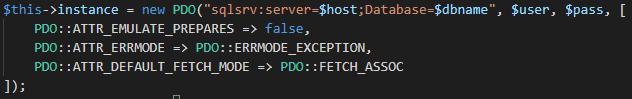 SQL Server PDO