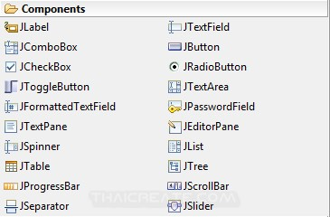 Java GUI Swing Controls