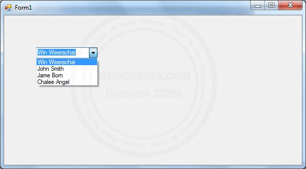 DataGridView , ComboBox , ListBox