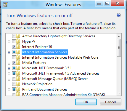 IIS8 and Windows 8 Developer Preview