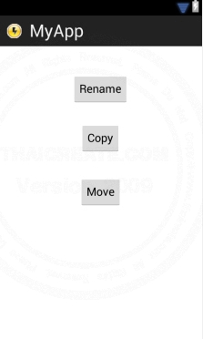 Android Rename Move Copy file in SD Card (Java Android)