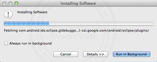 Android Mac Install Android  (ADT) Plugin and Android SDK