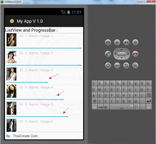 Android Multiple Download file in ListView and Show Progress unit percentage