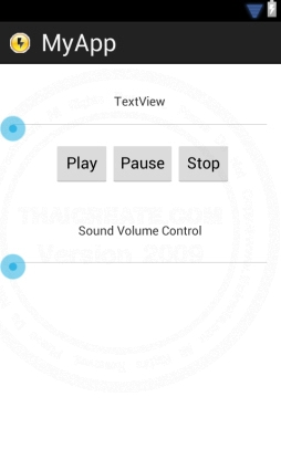 Android SeekBar Control Audio Sound Volume