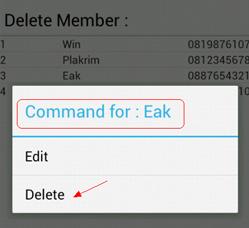 Android SQLite Delete Data