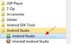 Android Studio Create Run Project