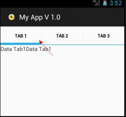 Android Tab Menu