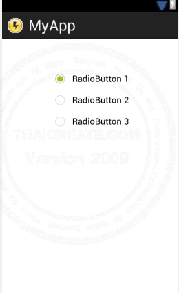 RadioGroup  - Android Widgets