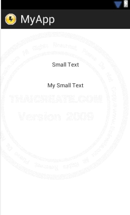 Small Text (TextView) - Android Widgets