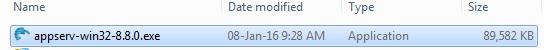 Appserv 8.0.0