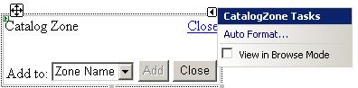 ASP.NET CatalogZone