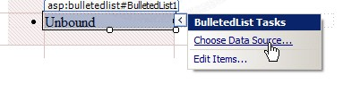 ASP.NET & AccessDataSource and BulletedList