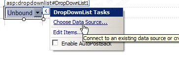 ASP.NET & AccessDataSource and DropDownlist