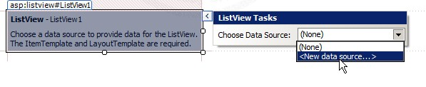 ASP.NET & AccessDataSource and ListView