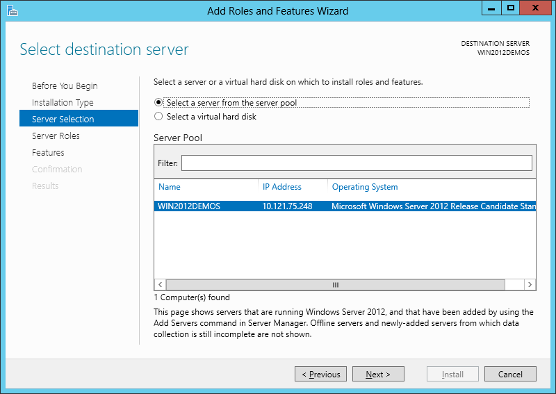 IIS8 and Windows Server 2012