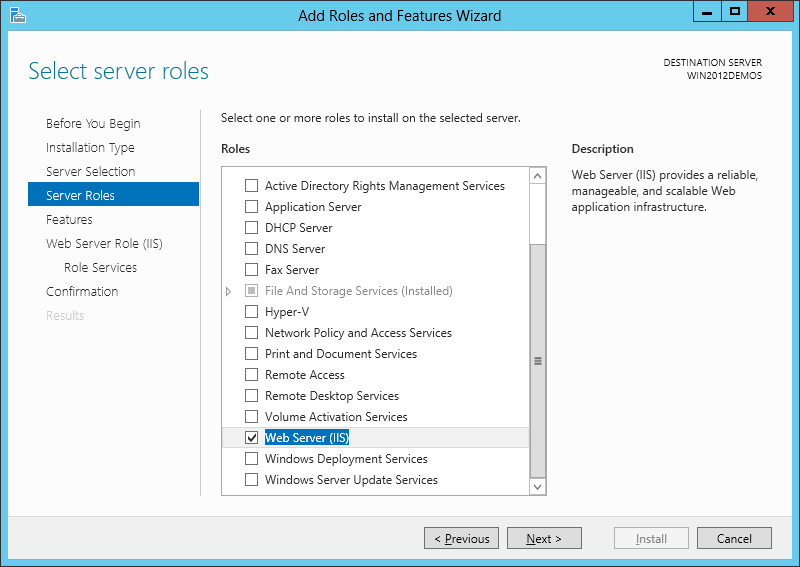 ASP Classic - IIS8 Windows Server 2012