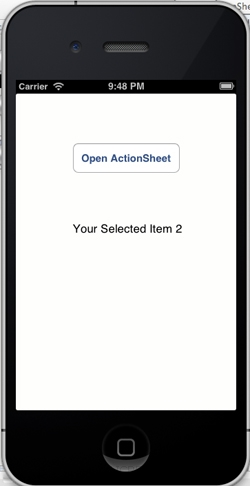 iOS/iPhone Action Sheet