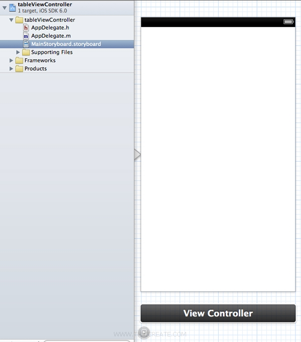 iOS/iPhone Table View and Storyboard