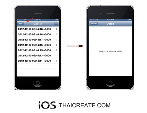 iOS/iPhone Master Detail Wizard Application (Add/Insert/Delete/Table View)