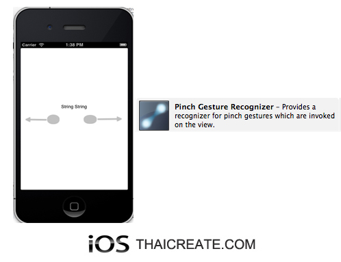 iOS/iPhone Pinch Gesture Recognizer  (UIPinchGestureRecognizer)  Pinching in and out (for zooming a view)
