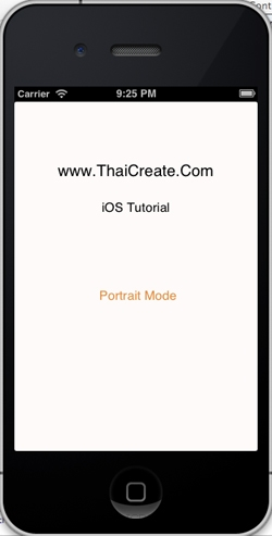 iOS/iPhone Portrait and Landscape Orientation