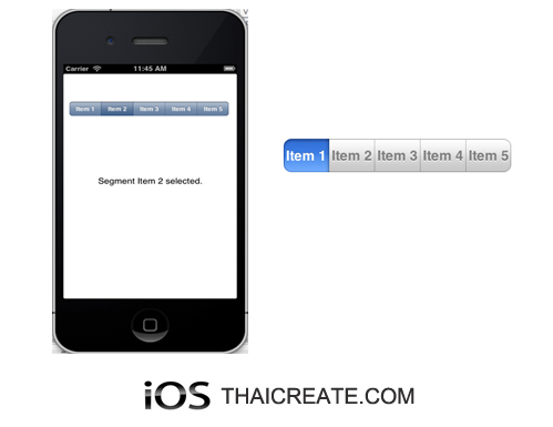 iOS/iPhone Segmented (UISegmentedControl)