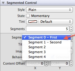 iOS/iPhone Segmented (UISegmentedControl)